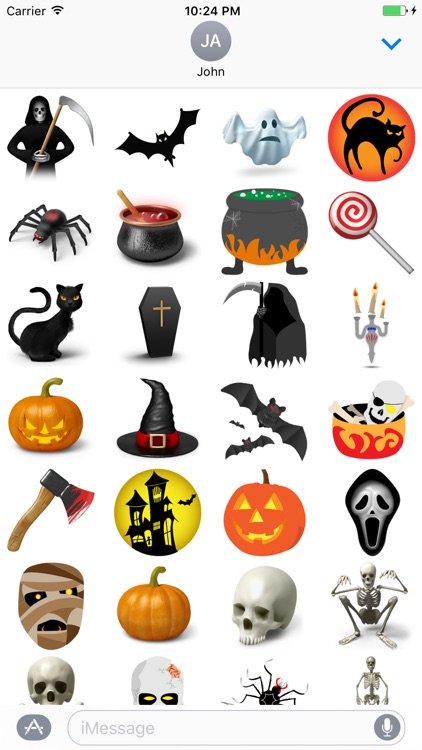 Crazy Halloween Sticker for iMessage #1
