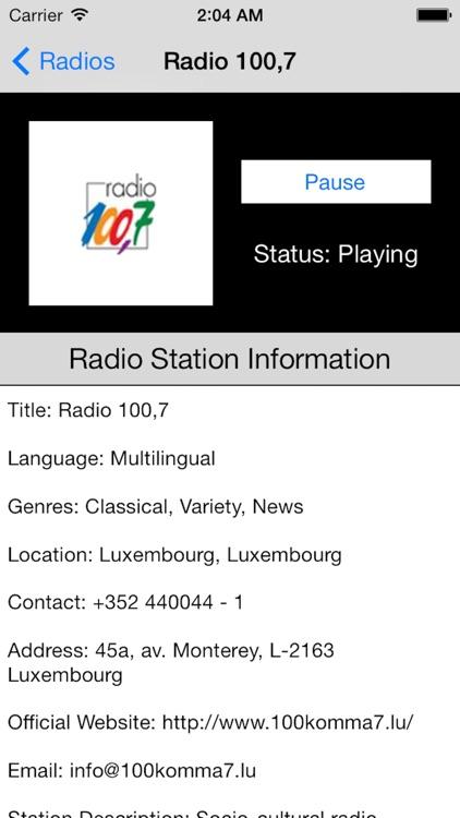 Luxembourg Radio Live Player (Lëtzebuerg) screenshot-3