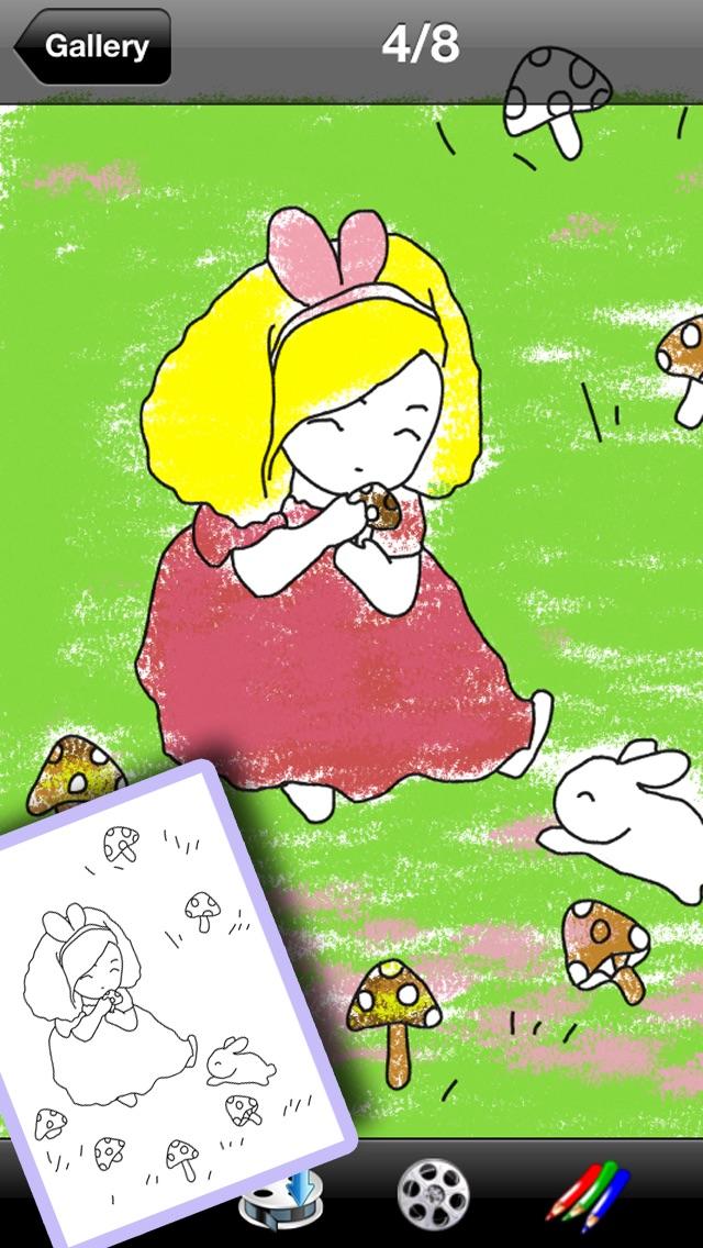 お姫様ぬりえ絵本 -デコぬりえ - お絵描きパッドとぬりえの2in1スクリーンショット2