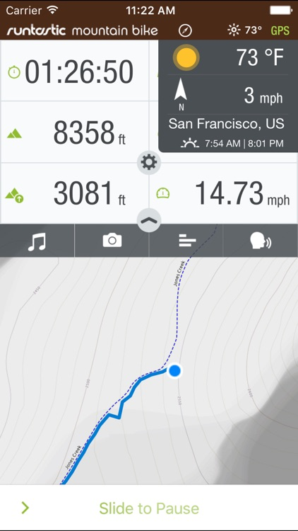 Runtastic Mountain Bike GPS Ride & Trails Tracker