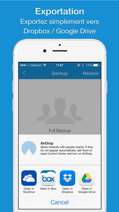 Screenshot #3 pour Easy Backup  Pro