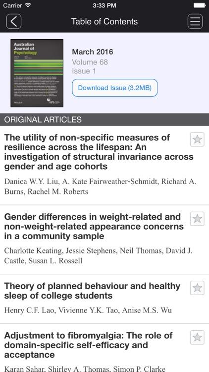 Australian Journal of Psychology screenshot-4