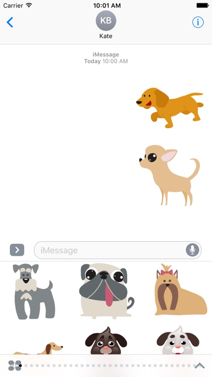 Dog Stickers Pack For iMessage