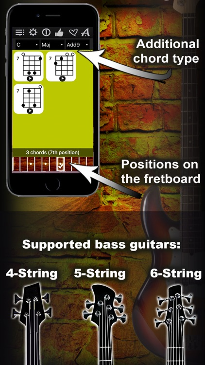 Bass Chords Compass - learn & play chord charts screenshot-3