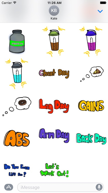 Gym Pack - Fitness & Bodybuilding Workout Stickers