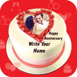 Name Photo On Anniversary Cake By Harikrushna Sonani