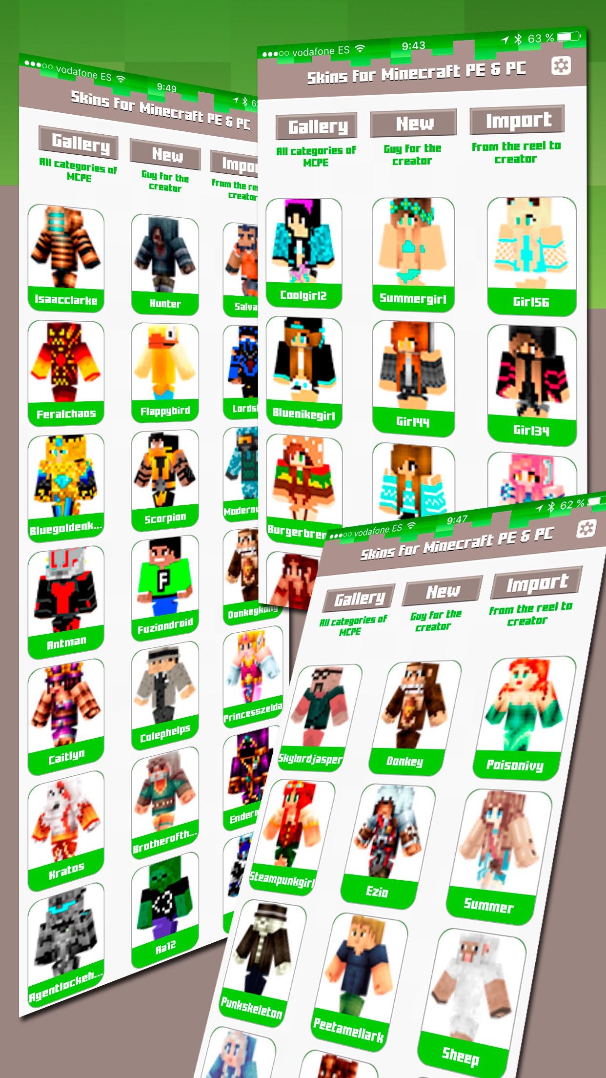 Skins for Minecraft PE & PC - Free Skins Screenshot