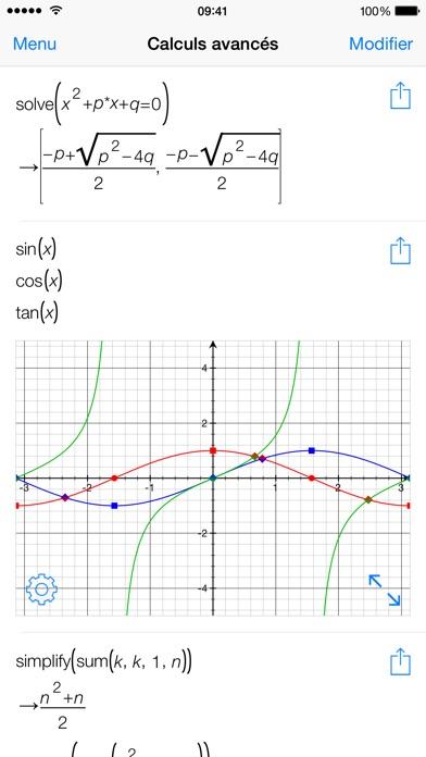 Screenshot #1 pour Mathématiques avec PocketCAS