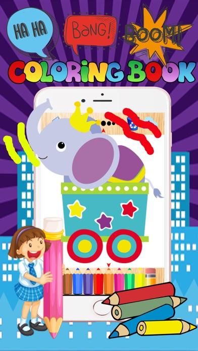 点击获取Circus animal doodle painting babies coloring page