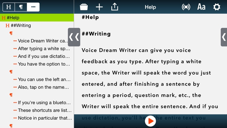 Voice Dream Writer
