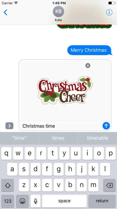Merry Christmas Wish Typography Stickers-2