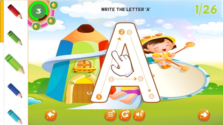 ABC Tracing Handwriting Letters Preschool Practice