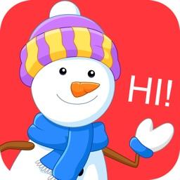 Snowman Emoji - Winter Sticker Pack for iMessage