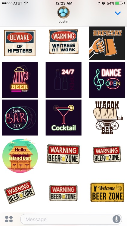 Bar Stickers screenshot-0