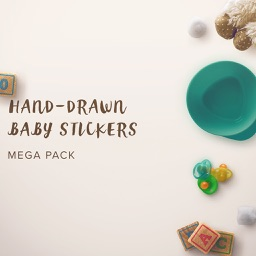 Hand Drawn Baby Stickers | MEGA PACK