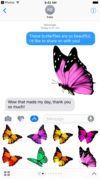 Beautiful Butterfly Sticker Pack