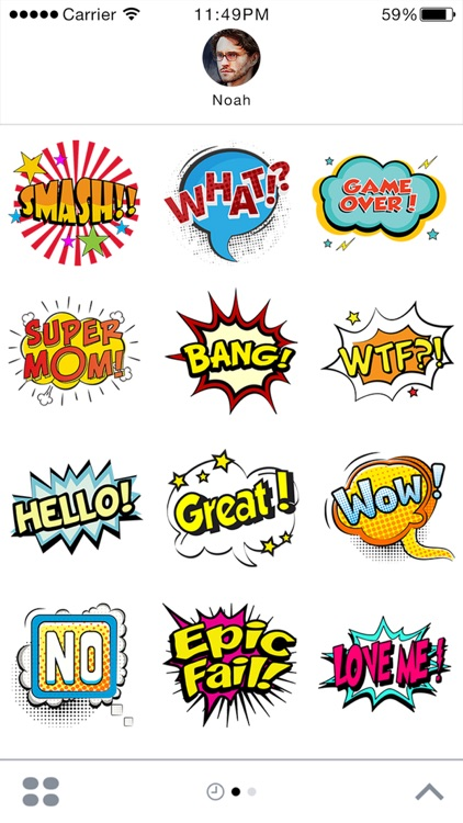 Comic Stickers For iMessage