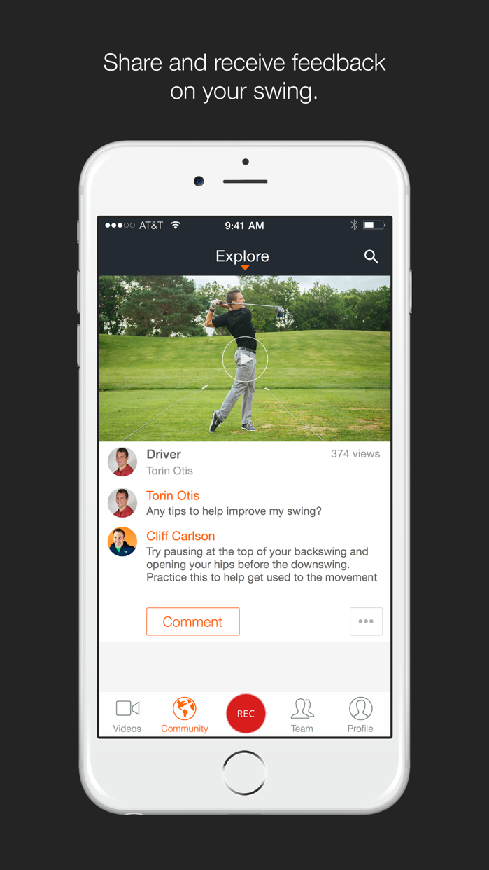 Hudl Technique Golf Screenshot