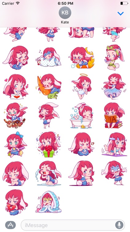Cute Bunny iMessage stickers