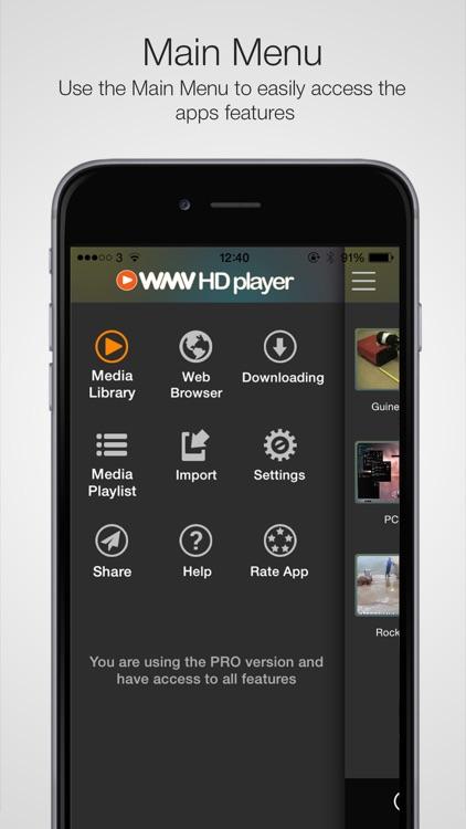 WMV HD Player Pro - Importer screenshot-3