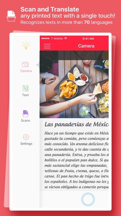 Scan & Translate+ - ocr Image scanner & translator screenshot-0