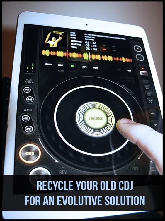 E DJ LITE CDJ mixer Vinyl bpm