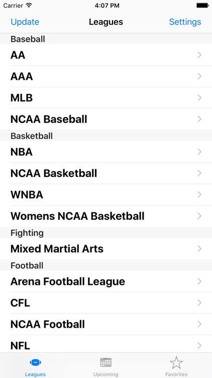 Sports Calendar App screenshot-0