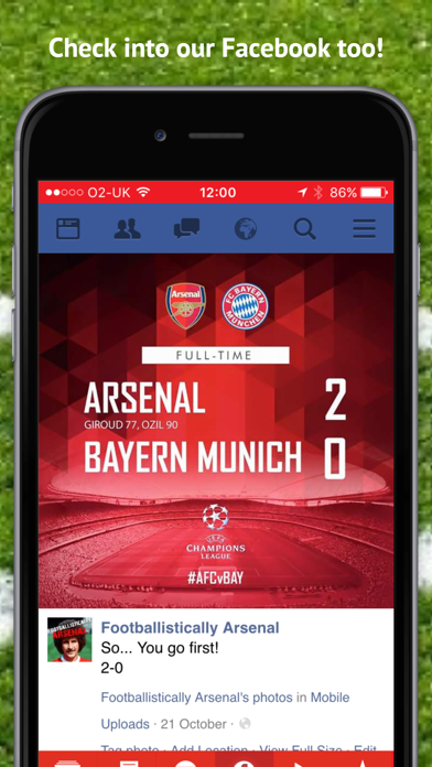 Footballistically -  the App for the Arsenal Podcast screenshot
