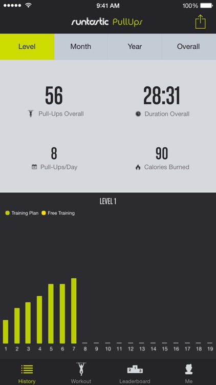 Runtastic Pull-Ups PRO Trainer screenshot-2
