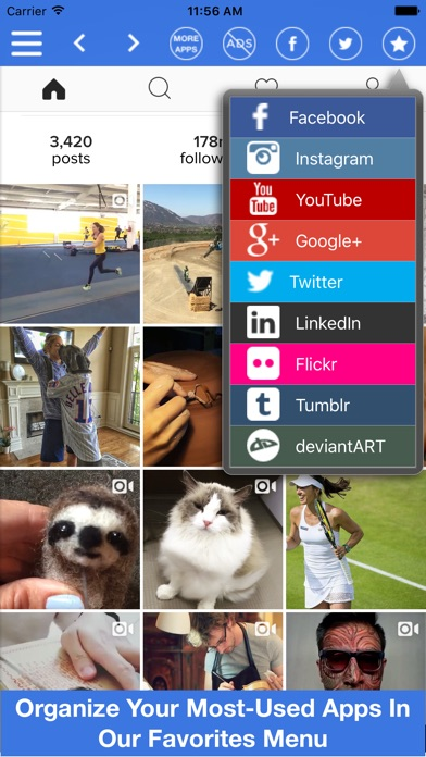Social Media All In One App Screenshot