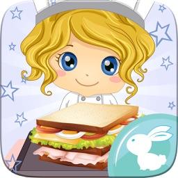 Sandwich Maker Cooking Chiefs Hamburger Breakfast