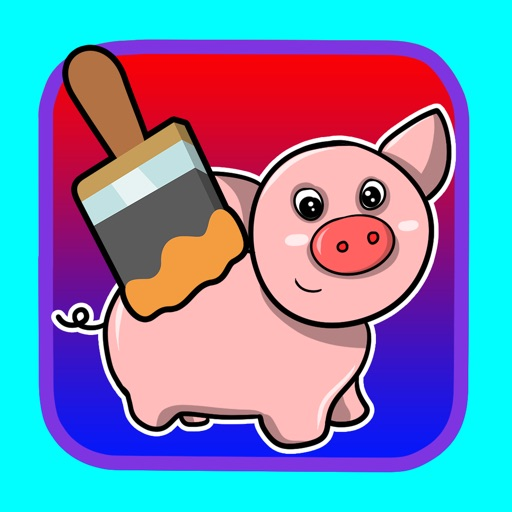 Game Pig and Animal Coloring Page for Kids iOS App