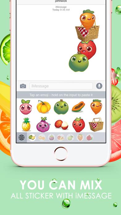 Fruits Emoji Pop Sticker Keyboard Themes ChatStick screenshot three