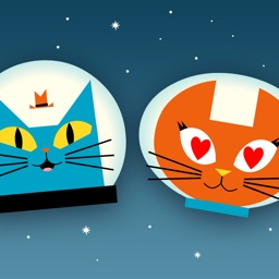 Astro Cat Stickers
