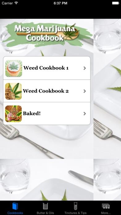 Screenshot for Mega Marijuana Cookbook - Cannabis Cooking & Weed in Venezuela App Store