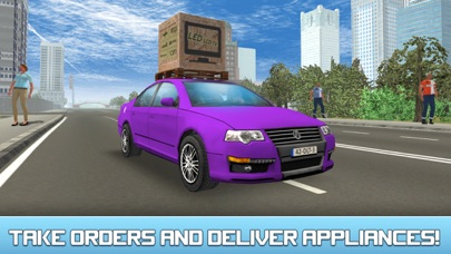 City Car Delivery Boy Simulator 3D-1