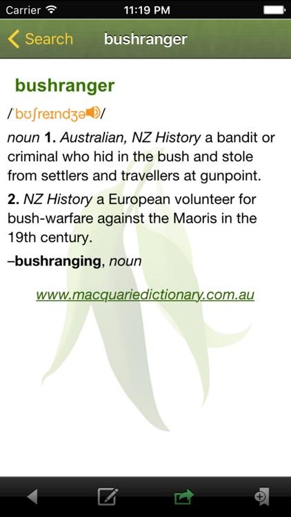Macquarie Concise Australian Dictionary screenshot-3