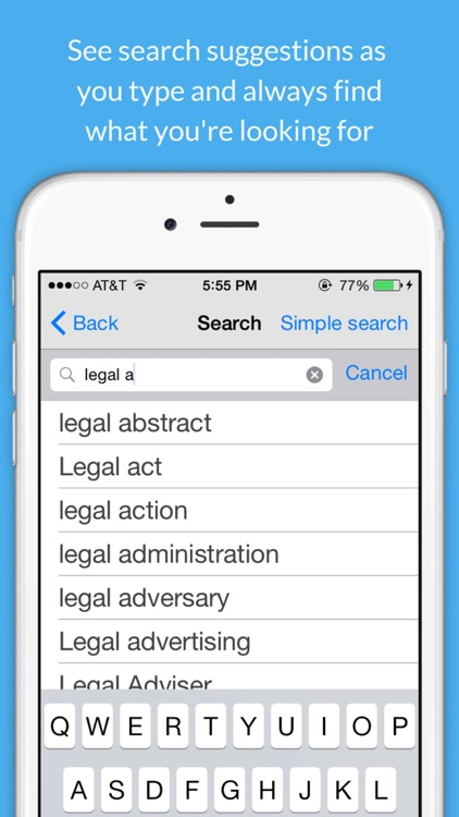 Legal Dictionary - Law Definitions and Thesaurus screenshot-4