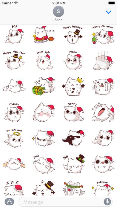 Cat Winter Christmas Stickers screenshot one