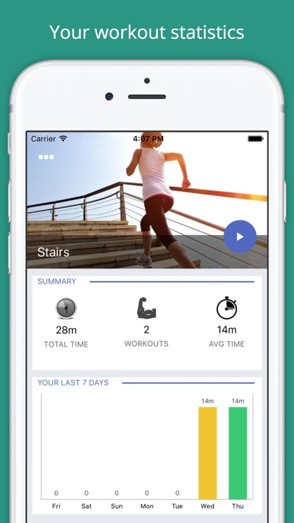 Stairs Workout Challenge PRO - Build muscle, abs