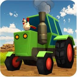 Blocky Farming Simulator USA  Tractor Plow Harvest