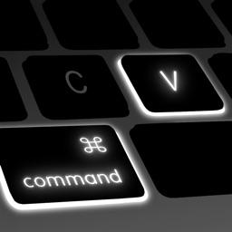 command-V