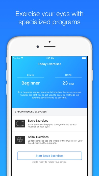 Eye Exerciser review screenshots
