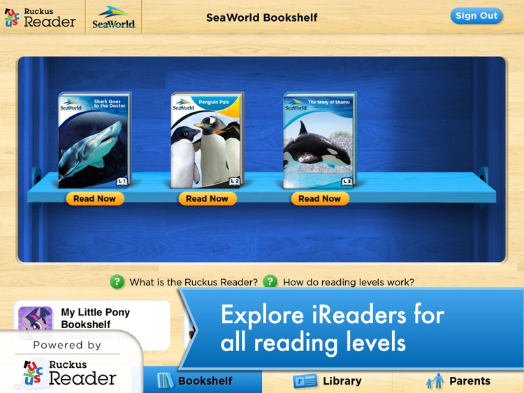 SeaWorld: Ruckus Reader screenshot-4