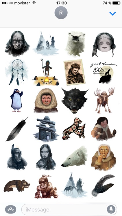 Jack London Stickers