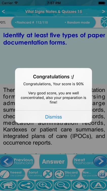 Vital Signs Exam : 2500 Quiz & Study Notes screenshot-4