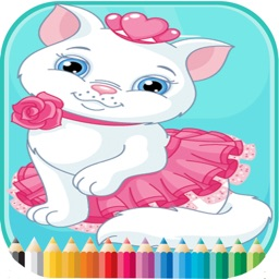 Cat & Dogs Coloring Book - for Kids