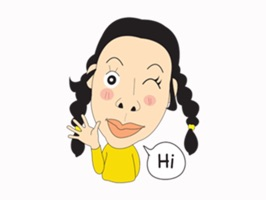 Ugly Girl Stickers Lovely for iMessage