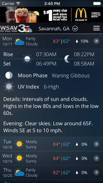 WSAV STORM TEAM 3 WEATHER NETWORK APP screenshot-4