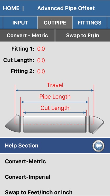Pipe Fitter Calculator